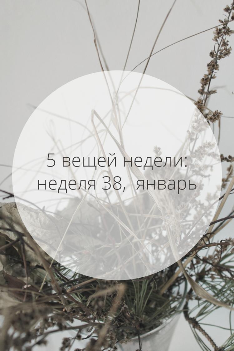 5 вещей недели: неделя 38, январь | Slow Life Blog