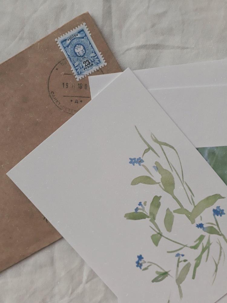 Письмо и открытки от My White Room | Slow Life Blog