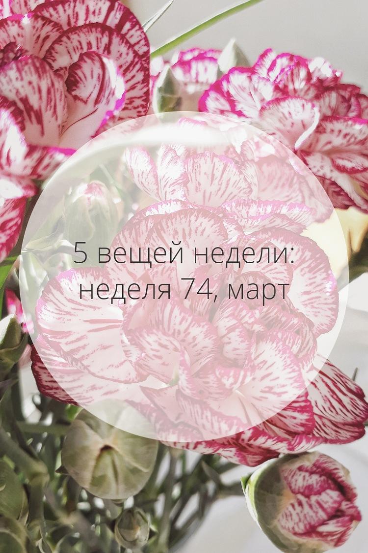 5 вещей недели: неделя 74, март | Slow Life Blog